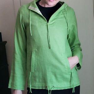 Calvin Klein Green Hooded Sweater
